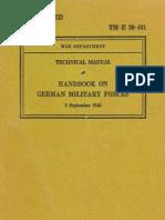 1943 Handbook on German Military Forces