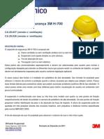 Boletim Técnico Capacetes 3M H700
