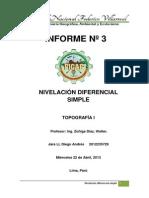 Informe Nro 3 - Nivelación diferencial simple