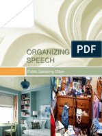 Public Speaking - Organzing a Speech