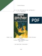 Ficha Literaria Harry Potter y las Relquias de la Muerte