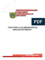 GUÍA PARA LA ELABORACIÓN DE  ANALISIS DE RIESGO-SEDEMA