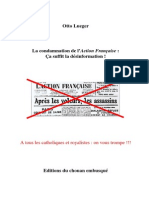 Lueger Otto - La condamnation de l'Action Française Ça suffit la désinformation