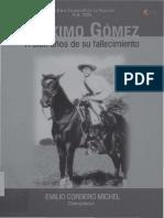 Máximo Gómez a cien años de su fallecimiento, 1905-2005. E. Cordero Michel