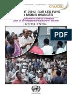 Rapport 2013 sur les Pays Moins Avances (PMA)