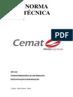 NTE-043-TRANSFORMADOR-DE-DISTRIBUIÇÃO-ESPECIFICAÇÃO-Revisão-05x