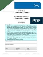 CS Assignment June 2012 - FINAL