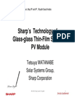 Tetsuya Watanabe Sharps Technology of Glass Glass Thin Film Silicon PV Module