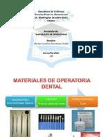 Materiales de Operatoria Dental