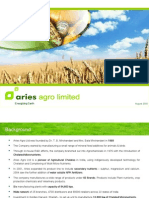 Aries_Agro_Ltd Aug 2009 Corporate Presentation