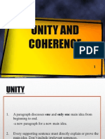 Unity Coherence