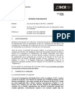 032-13 - Pre - Asbanc- Alcances de Los Impedimientos Para Ser Participante, Postor Y-o Contratista - Contratos Bancarios