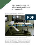 death penalty is dead wrongblog