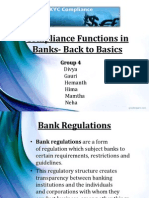 Compliance functions in banks