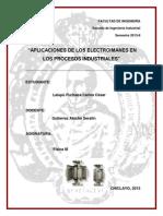 Aplicaciones de Los Electroimanes en Los Procesos Industriales