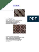 Contoh Produk Batik