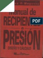 Megyesy. Manual de recipientes a presión. Diseño y cálculo