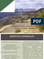 """""""CONSTRUCCION YMEJORAMIENTO DE LA CARRETERA VILLA –MANTARO - UTCUÑI"""""""