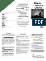 November 17, 2013 Trifold Bulletin