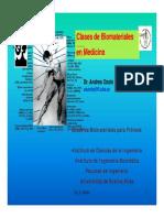 Clases de Biomateriales en Medicina