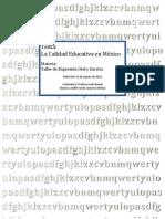 Calidad Educativa en Mexico