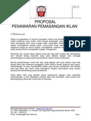 Contoh Proposal Penawaran Iklan