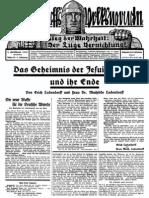 1929 Nr. 19, Das Geheimnis der Jesuitenmacht und ihr Ende_ Ludendorffs Volkswarte, A3 Format,