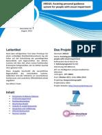 ARGUS Projekt-Newsletter 3  (Deutsch)