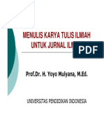Menulis Karya Dlm Jurnal Ilmiah [Compatibility Mode]