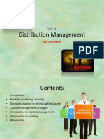 Unit 11 Distribution Management