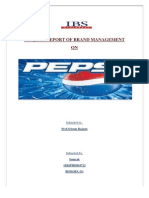 Project Report of Brand Management