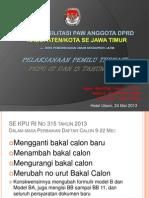 Materi Pelaksanaan Pemilu Terkait PKPU 07 Dan 13 2013