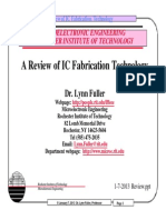 Review of Ic Fabrication