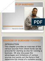 Provision of Business Finance