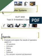 Embedded C Operators
