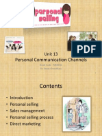 Unit 13 Personal Communication Channels