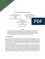 Signalling Transp Protocols