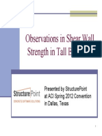 Observation Sins Hear Wall Strength in Tall Buildings