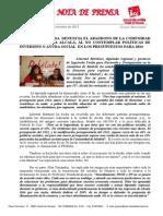 IU denuncia el abandono de Alcalá por parte de la Comunidad de Madrid en los Presupuestos del 2014