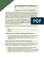 Trucs Pour Cesser de Fumer La Cigarette