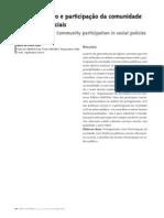 Empoderamento e participação da comunidade em políticas sociais