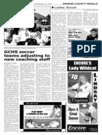 Greene County HS Soccer Season 2013-2014 pre-view