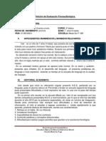 Informe Para Evaluacion Fonoaudiologica