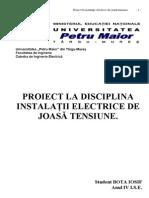 56064467-PROIECT-LA-DISCIPLINA-INSTALAŢII-ELECTRICE-DE-JOASĂ-TENSIUNE