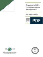 Donatori u BiH - Podrška razvoju NVO sektora