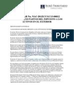 Circular a Sujetos Pasivos Impuestos Activos Exterior - RO# 124 15-XI-2013