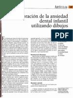 Articulos-Valoracion de La Ansiedad Dental Infantil Utilizando Dibujos