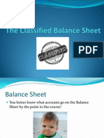 11. the Classified Balance Sheet