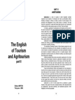 The English of Tourism and Agritourism - Reisited - Sem II