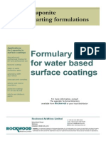 94401102 Water Based Surface Coatings Formulation